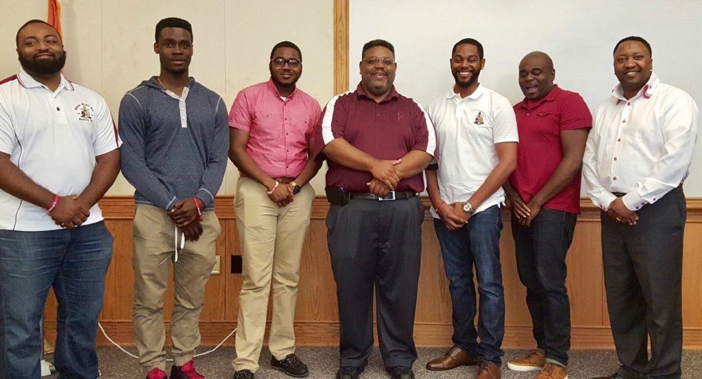 Northern Province Polemarch Kevin D. Kyles with Western New York Chapter Polemarchs