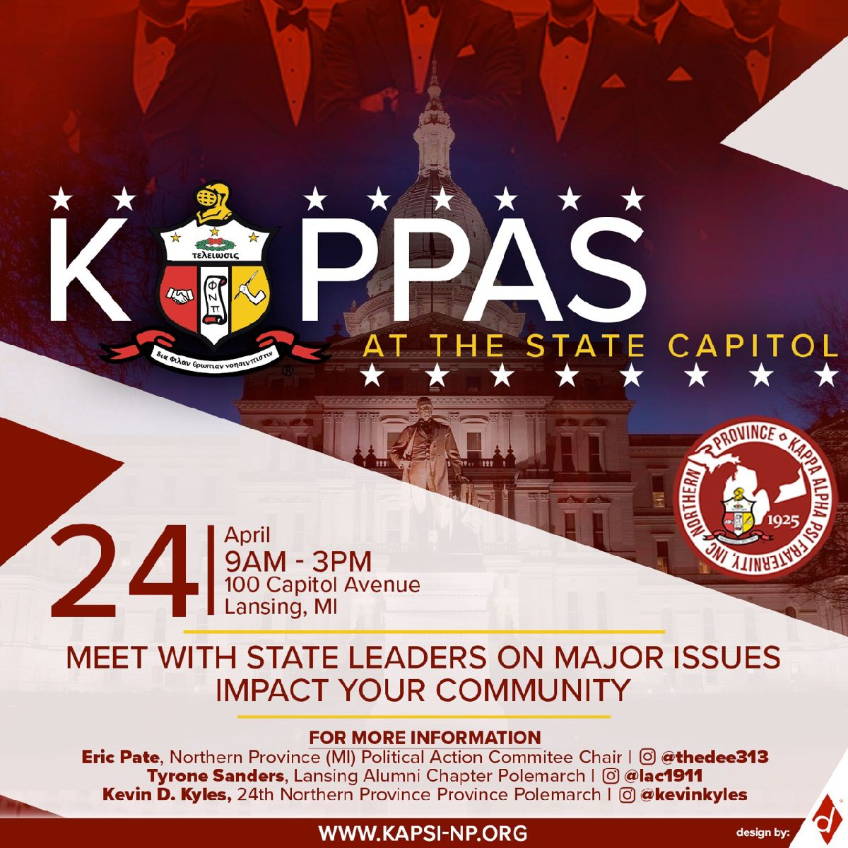 Kappas at the MI State Capitol @ Michigan State Capitol | Lansing | Michigan | United States